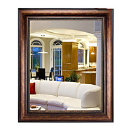 "30""Nut-Brown Color Rectangle Wall Mirror"