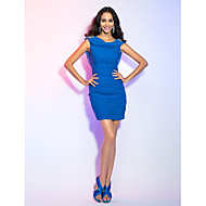 TS Couture® Cocktail Party / Holiday Dress - Short Plus Size / Petite Sheath / Column Cowl Short / Mini Jersey with Crystal Detailing / Ruching