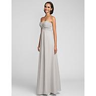Floor-length Chiffon Bridesmaid Dress-Plus Size / Petite Sheath/Column Sweetheart