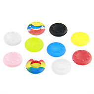 Shine Green Amazing 10 Sets Thumb Stick Grips for PS3 Controller for XBOX 360 for WII for Wii u (Random Color)