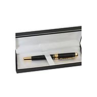 Gepersonaliseerde Black and Gold Metal Black Ink Gelbalpen