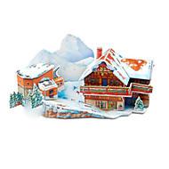 Puzzles cenário da neve 3D