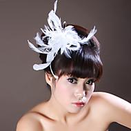 פרחי נוצה עם headpieces החתונה ריינסטון