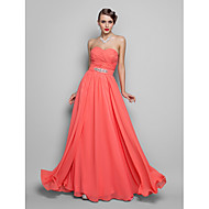 TS Couture® Formal Evening / Prom / Military Ball Dress - Watermelon Plus Sizes / Petite A-line / Princess Strapless / Sweetheart Floor-length Chiffon