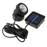 6-LED Vandtæt Solar Powered Spotlight Have Udendørs Flood Lamp
