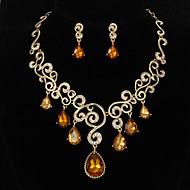 Fascinující slitina s drahokamu Jewely sada obsahuje náhrdelník, náušnice