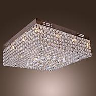 אור קריסטל חרוזי תקרה עם 45 נוריות צבעוניות ו 12 בסיסי G4