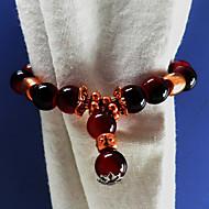Thai Rond de Serviette Set de 12 perles acryliques Dia 4.5cm