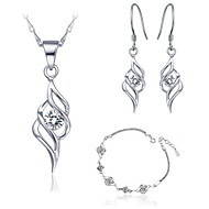 Charming Alloy Platinum Plated With Multicolor Rhinestone Jewelry Set(Including Necklace,Bracelet,Earrings)