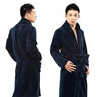 Roupão de banho, de alta classe amarela azul escuro da cor sólida Garment Engrosse - Um tamanho para caber todos os