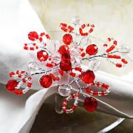 Fruit Rond de serviette, les perles en verre acrylique Dia 4.5cm, ensemble de 12