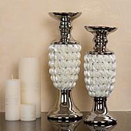 """14.25 """"H Modern Style Shell Keraamiset Set kynttilänjalat (2 kpl)"""