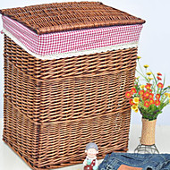 Storage Baskets Bamboo withFeature is Lidded , For Cloth