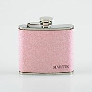 személyre szabott Apák napja ajándék rózsaszín splash 5oz pu bőr nagybetűvel lombik