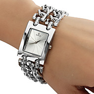 Женские Модные часы Часы-браслет Кварцевый Нержавеющая сталь Группа Серебристый металл