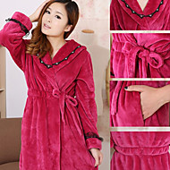 Bath Robe Purple,Solid High Quality 100% Polyester Towel