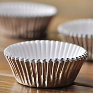알루미늄 호일 컵 케이크 포장지 - 100 세트
