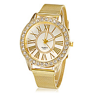 Women's Watch Fashion Diamante Golden Band Dress Wrist Watch Cool Watches Unique Watches