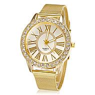 Женские Нарядные часы Модные часы Наручные часы Стразы Имитация Алмазный Кварцевый сплав Группа Блестящие Цветы Золотистый