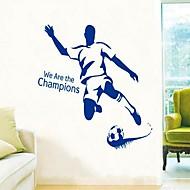 Volný čas Sporty Samolepky na zeď Samolepky na stěnu Ozdobné samolepky na zeď,Vinyl Materiál Omyvatelné Snímatelné Home dekoraceLepicí