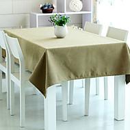 "Table Cloth Kaki, Polyester 80 ""* 56"""