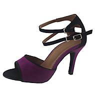 Customized Woman's Velvet Dance Shoes For Latin/Ballroom Sandals