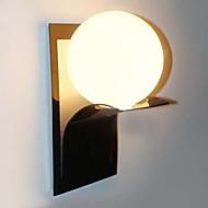 Badeværelse væglampe, 1 lys, moderne Globe Metal Glas Galvanisering