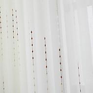 (두 개의 패널) 구슬 패턴 깎아 지른듯한 커튼의 우아한 신고전주의 문자열