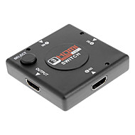 1 to 3 HDMI Port Switcher Splitter Selector for PS3 / Wii / Xbox 360 (Black)