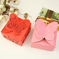 12 Stück / Set zugunsten Halter - Quader Kartenpapier Bevorzugungskästen Schmetterling Thema