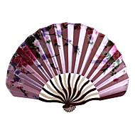Fan Floral Satin Mão - conjunto de 4 (cor aleatória)