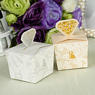 12 Stück / Set zugunsten Halter - Quader Kartenpapier / Perlenpapier Bevorzugungskästen Diamanten Stil