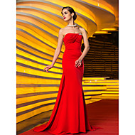 TS Couture® Formal Evening / Military Ball Dress - Ruby Plus Sizes / Petite Trumpet/Mermaid Strapless Sweep/Brush Train Jersey