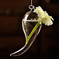 Table Centres de verre en forme de corne deocrations de table vase