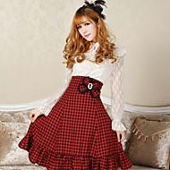 Women's Angelic Sexy Plaid Goth Punk Lolita Schoolgirl Red anf Black Club Cosplay Skirts