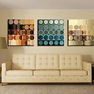Lienzo envuelto para galerías de arte abstracto de los círculos Conjunto de 3