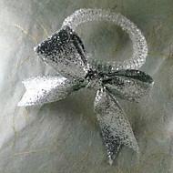 Bow casamento Guardanapo Ring, Dia Acrílico 4,5 centímetros