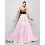 TS Couture Prom Formal Evening Military Ball Dress - Open Back A-line Sweetheart Floor-length Chiffon withCrystal Detailing Flower(s)