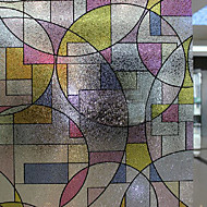 Moderní Fancy Abstrakt Matné Geometrické okenní fólie
