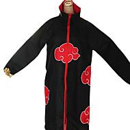 Inspirerad av Naruto Akatsuki Animé Cosplay Kostymer/Dräkter cosplay Suits Tryck Svart / Röd Lång ärm Kappa