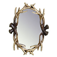 "27""H Mordern Style Polyresin Wall Mirror"