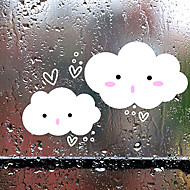 Cute Cartoon Smiling Clouds Window Stickers