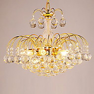 Max 40W Chandelier ,  Modern/Contemporary Electroplated Feature for Crystal Metal Living Room / Bedroom / Dining Room / Hallway