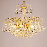 em estilo europeu de luxo 3 lustre luz com bolas de cristal