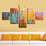 Stretched Canvas Print Art Abstract Colorful Mirrors Set of 5