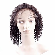 12Inch 100%Indian Remy Human Hair Short Afro Kinky Curly Full Lace Wig With Stretch On The Crown