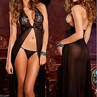 Rene Rofe Black Lace Evening Gown Dresses Style Women's Lingerie Sexy Uniform