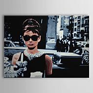sträckt duk konst popkonst människor audreyhepburn av Frukost på Tiffany redo att hänga
