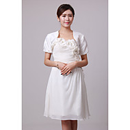 Personalized Short Sleeve Taffeta Wedding/Party Evening Jackets/Wraps(More Colors) Bolero Shrug