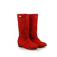 Suede Women's High-heel Fashion Platform Martin Boots (More Colors)